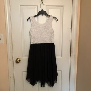 Formal Black & White Dress